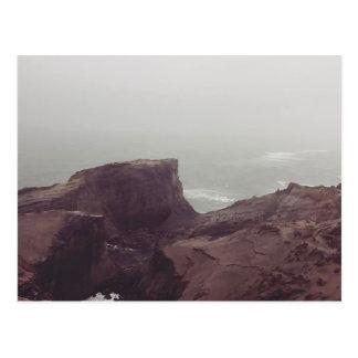 Postal visión desde una colina costera