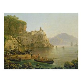 Postal Visión hacia Atrani en el Amalfi, 1817