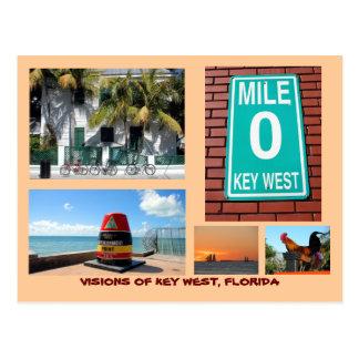 Postal Visiones de Key West, la Florida