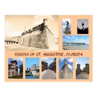 Postal Visiones de St Augustine histórico, la Florida