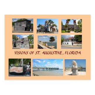Postal Visiones de St Augustine, la Florida