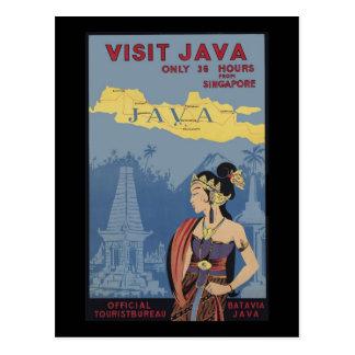Postal Visita Java solamente 36 horas de Singapur