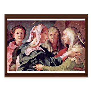 Postal Visitation de Pontormo Jacopo