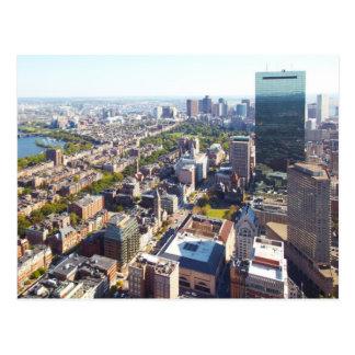 Postal Vista aérea de Boston