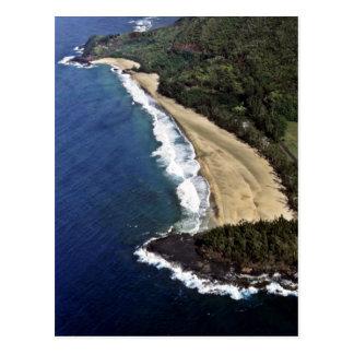 Postal Vista aérea de la playa de Hanalei - Kauai