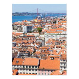 Postal Vista aérea de Lisboa, Portugal