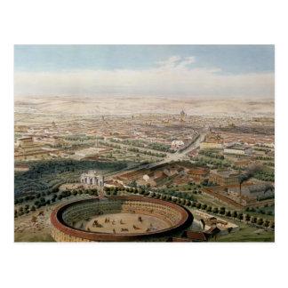 Postal Vista aérea de Madrid de la plaza de Toros