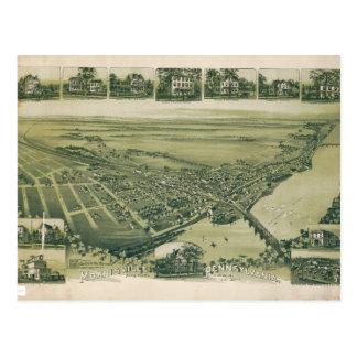 Postal Vista aérea de Morrisville, Pennsylvania (1893)