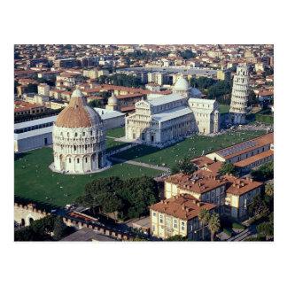 Postal Vista aérea de Pisa, Italia