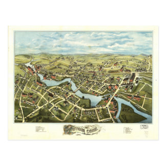 Postal Vista aérea de Putnam, Connecticut (1877)