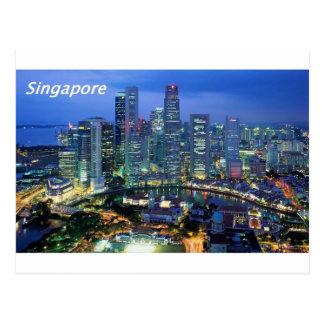 Postal vista aérea de Singapur Angie