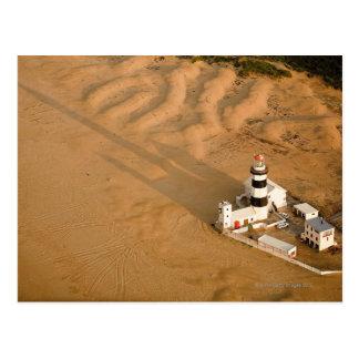 Postal Vista aérea del faro de Recife del cabo, Nelson