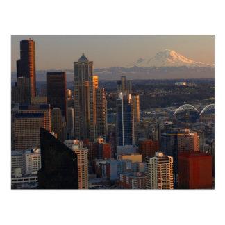 Postal Vista aérea del horizonte 2 de la ciudad de