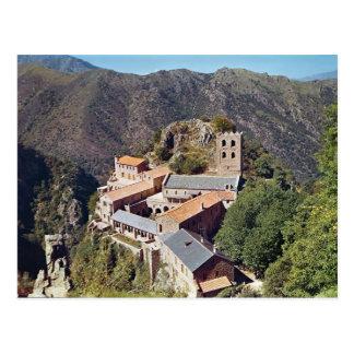Postal Vista de la abadía de San Martín du Canigou