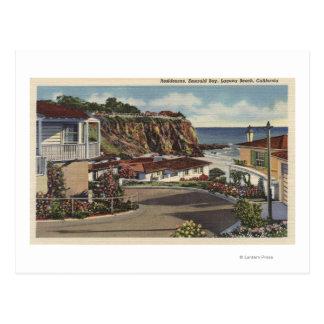 Postal Vista de la bahía y de residencias esmeralda