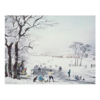 Postal Vista de la casa de Buckingham, parque de James en