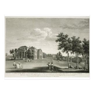 Postal Vista de la casa y de la parte del jardín en W del