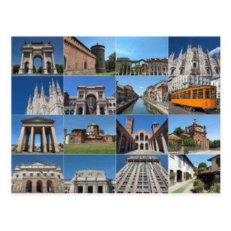 Postal Vista de la ciudad de Milano Milano en Italia
