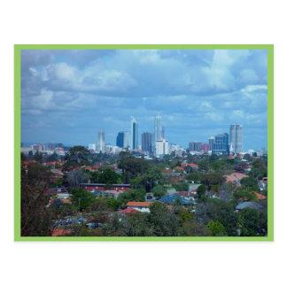 Postal Vista de la ciudad de Perth de una cumbre del
