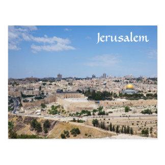 Postal Vista de la ciudad vieja de Jerusalén, Israel