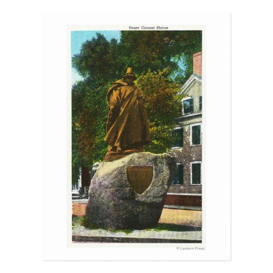 Postal Vista de la estatua de Rogelio Conant