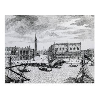Postal Vista de la plaza San Marco del Bacino, Venecia