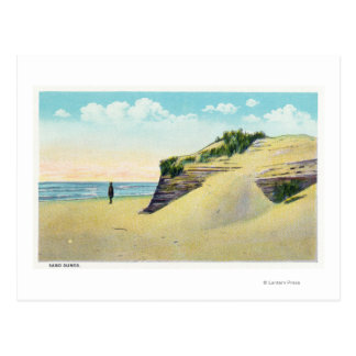 Postal Vista de las dunas de arena típicas de Nueva