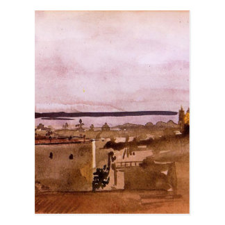 Postal Vista de Nápoles de Edgar Degas