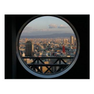 Postal Vista de Osaka Japón del edificio del cielo de
