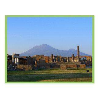 Postal Vista de Vesuvio sobre las ruinas de Pompeya