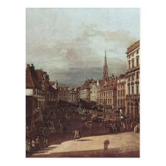 Postal Vista de Viena, mercado de la harina del sudoeste