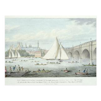 Postal Vista de Westminster y del puente, con a