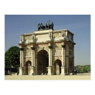 Postal Vista del Arco del Triunfo du Carrousel