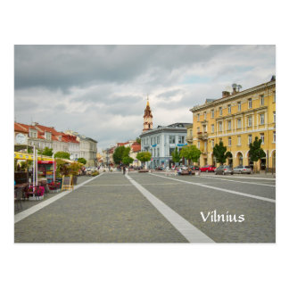 Postal Vista del ayuntamiento, Vilna Lituania