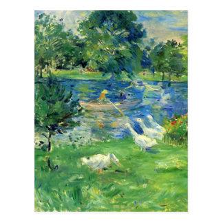 Postal Vista del Bois de Boulogne de Berthe Morisot