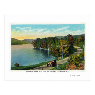 Postal Vista del lago del tonelero Hwy de Fenimore