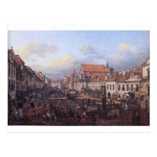 Postal Vista del suburbio de Cracovia que lleva al