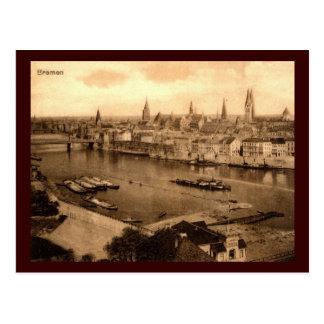 Postal Vista del vintage 1920 de Bremen Alemania