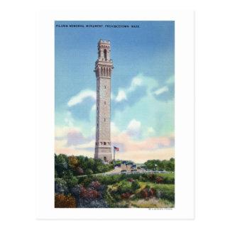 Postal Vista diurna del monumento del peregrino