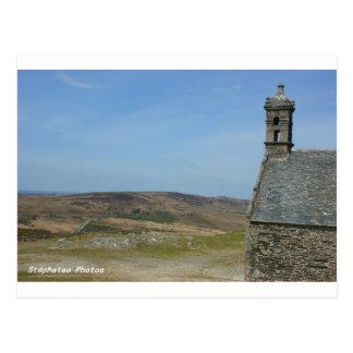 Postal Vista sobre los Montes de Arées Bretaña Francia