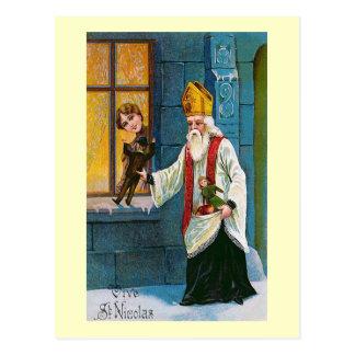"Postal ""Vive francés del vintage del St. Nicolás"""
