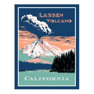 Postal Volcán California de Lassen