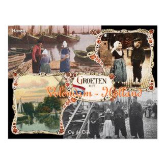 Postal Volendam de Holanda del estilo del vintage