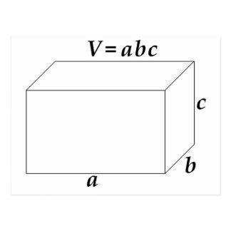 Postal Volumen de una prisma rectangular