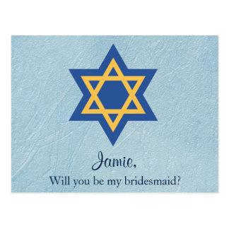 Postal Voluntad judía usted sea mi estrella de la dama de