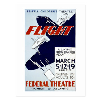 Postal Vuelo de proyecto federal del teatro de WPA del