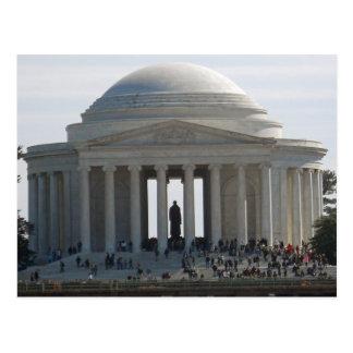 Postal Washington DC conmemorativo 002 de Jefferson