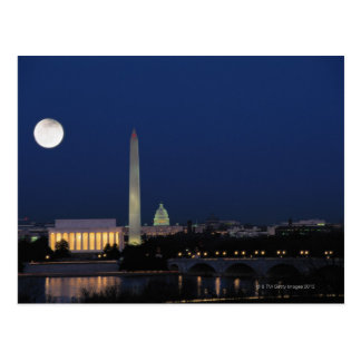 Postal Washington DC en la noche