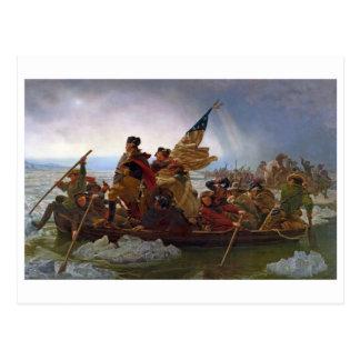 Postal Washington que cruza el río Delaware