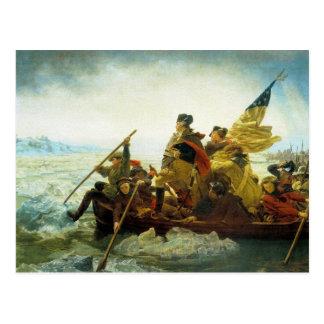 Postal--Washington que cruza el río Delaware Postal